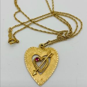 Jewelry - Solid 14k Gold Heart Within a Heart